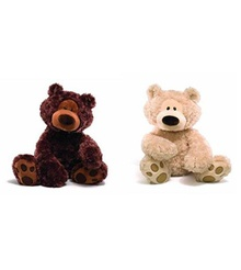 gund bears in brown and white